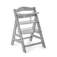 Hauck Alpha+ drevená stolička, grey